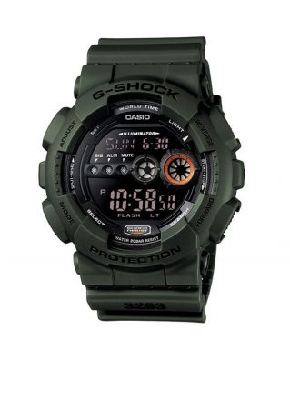 G-Shock Horloge GD-100MS-3ER (Legergroen)