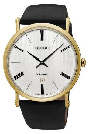 Seiko Herenhorloge 'Premier' goudkleurig SKP396P1